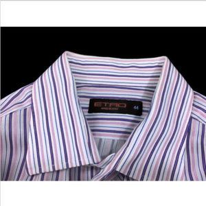Etro Milano Colorful Slim Fit Striped Shirt 44 XL